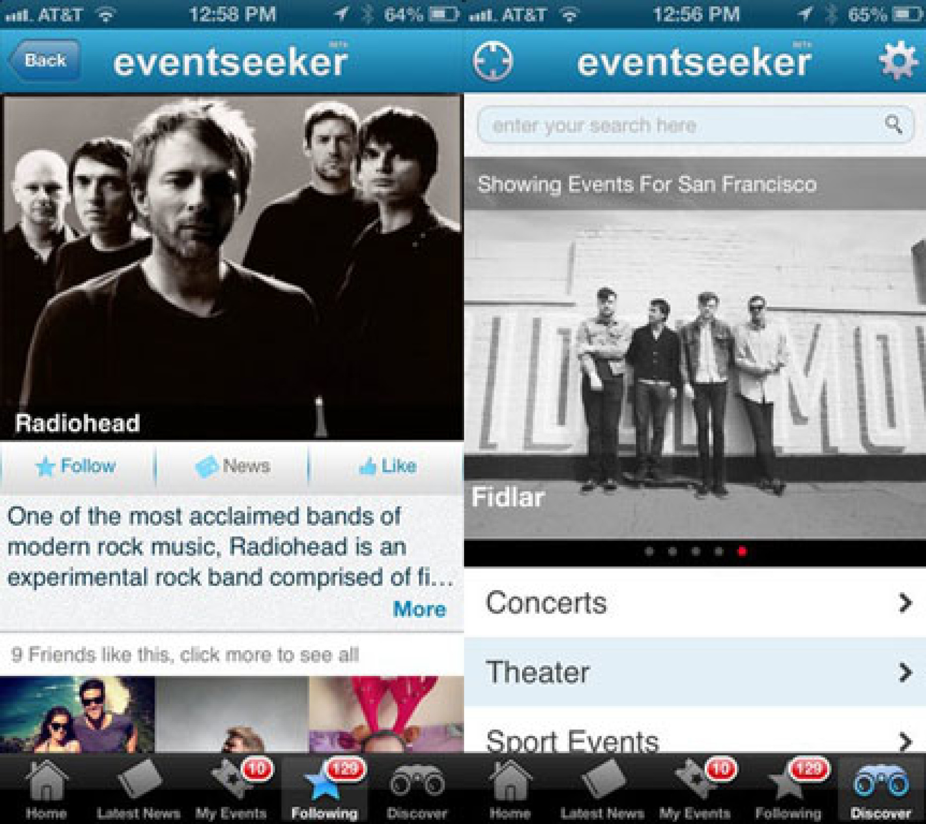 Find and Attend Events with eventseeker