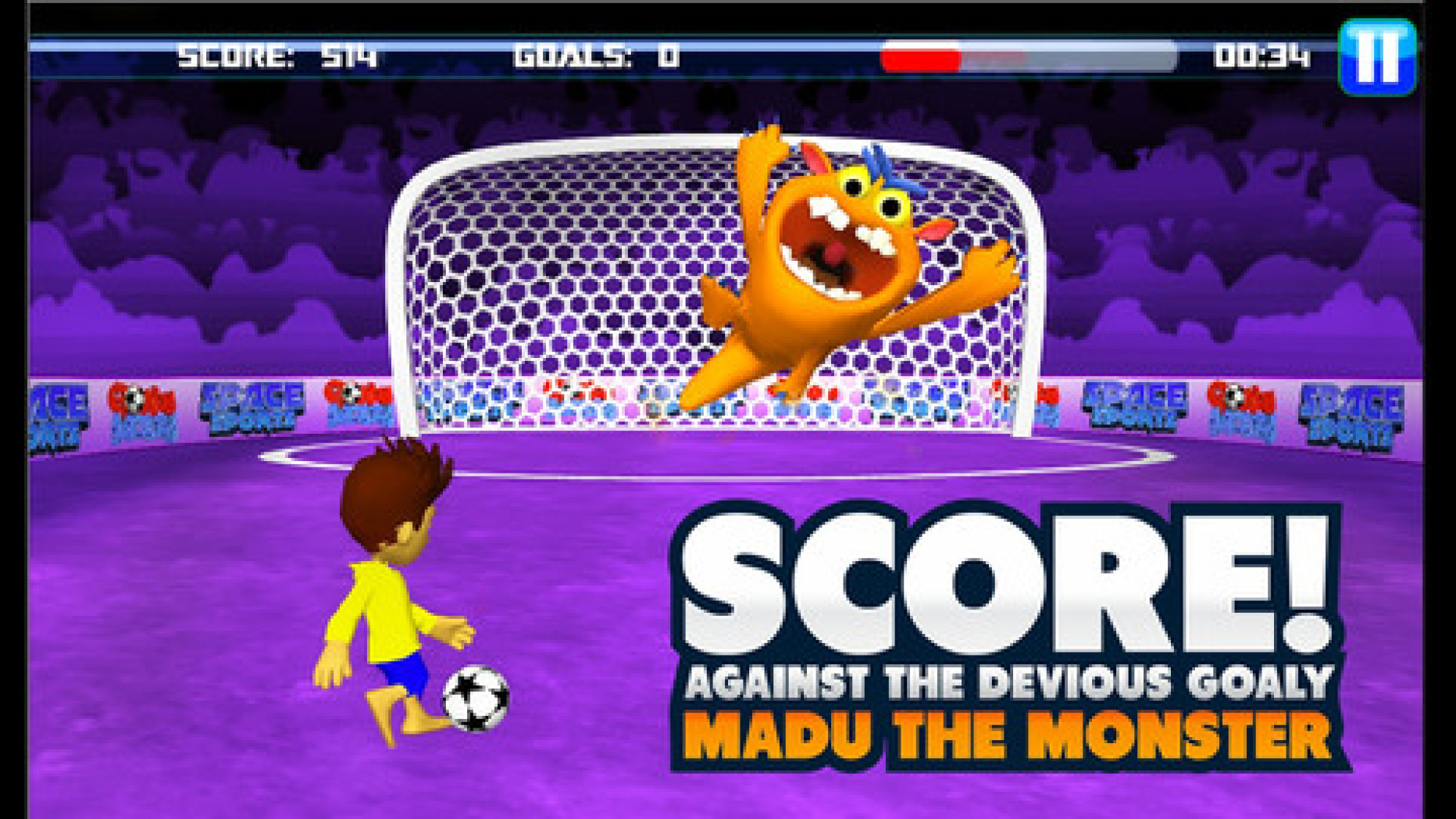 Space Sports – A Soccer Game with Lovely 3D Graphics and Crisp Design