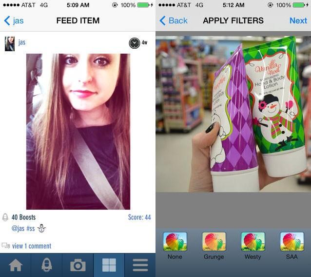 Likeability screenshots