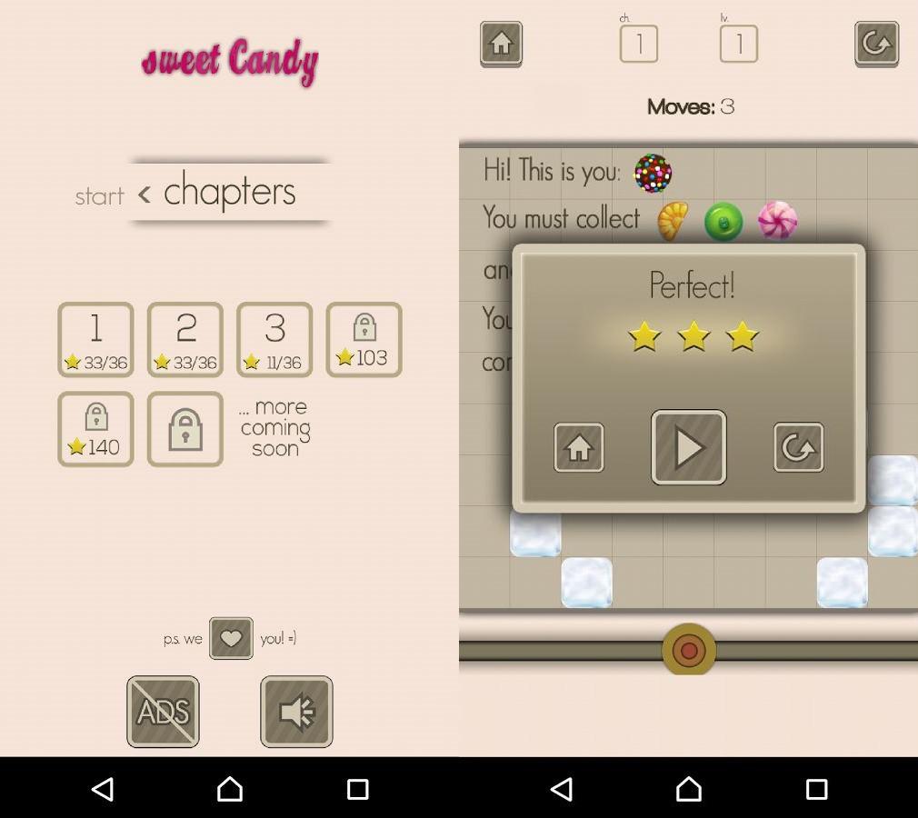 Sweet Candy app screenshot