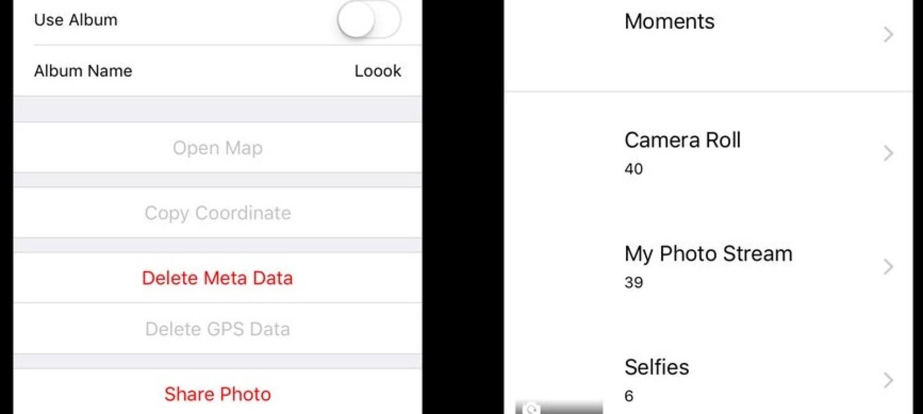 Wipe Meta Data on Photos with Loooks