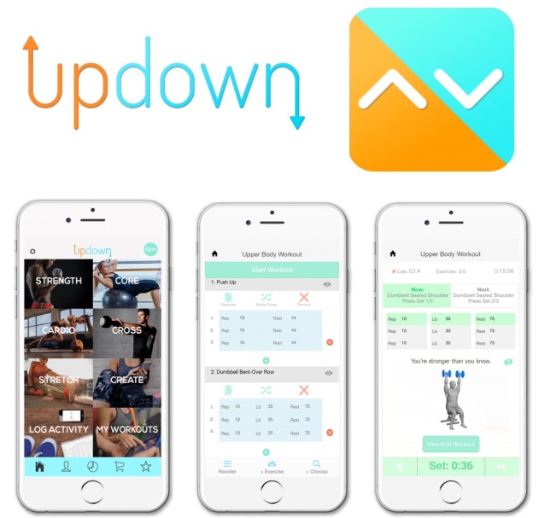 Updown Fitness – Physical Trainer that's Portable and Practical