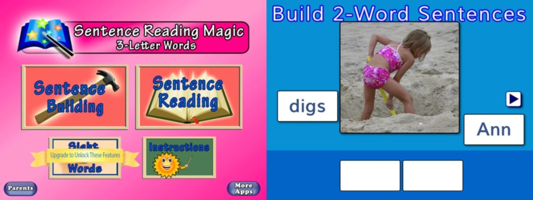 SENTENCE READING MAGIC App Helps Kids Learn to Read the Easy Way