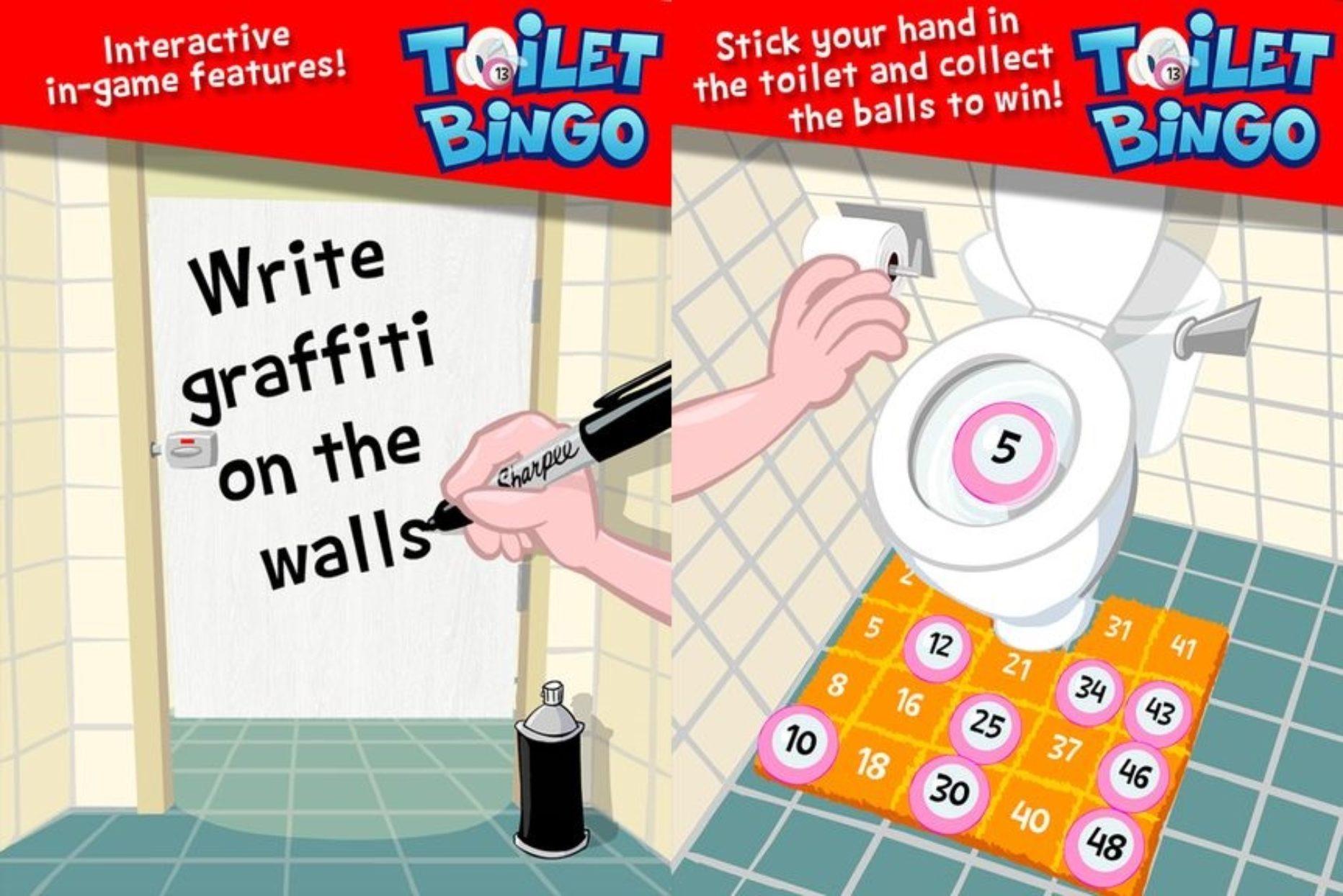 Bingo with a Twist- Toilet Bingo